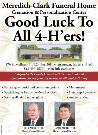 Good Luck To All 4-H'ers!