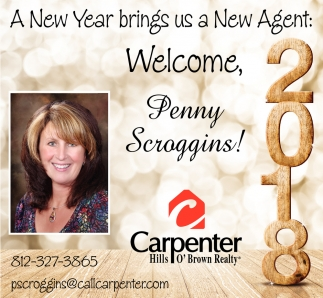 A New Year Brings Us A New Agent: Welcome, Penny Scroggins
