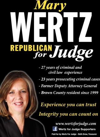 Mary Wertz, Republican For Judge