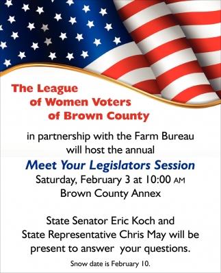 Meet Your Legislators Session