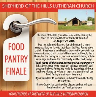 Food Pantry Finale