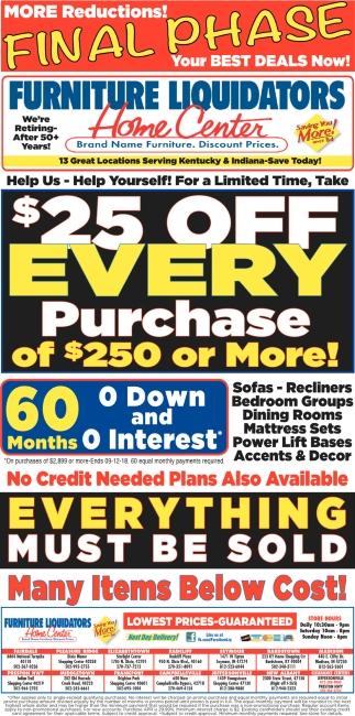 Brand Name Furniture. Discount Prices., Furniture Liquidators, Seymour, IN