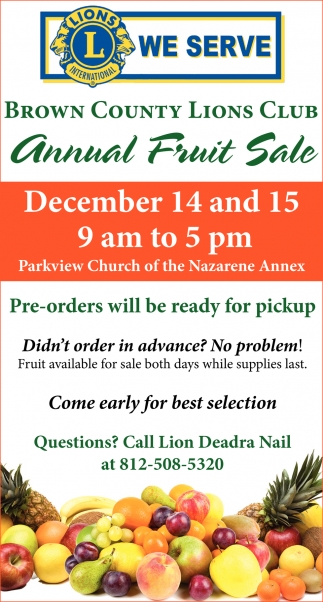 Annual Fruit Sale