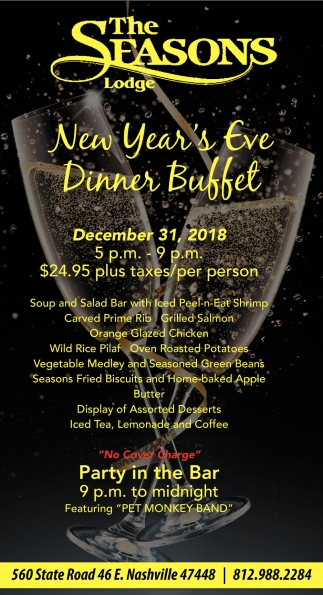 New Year's Eve Dinner Buffet