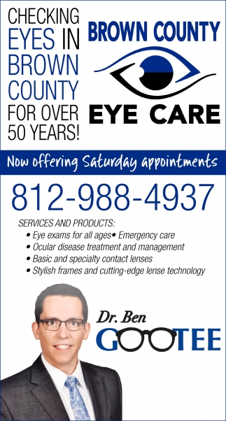 Checking Eyes In Brown County For Over 50 Years!