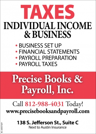 Taxes Individual Income And Business