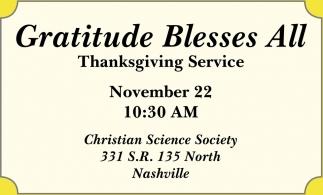 Gratitude Bless All