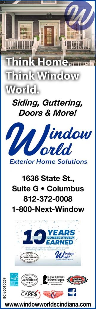 Think Home. Think Window World.
