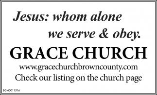 Jesus: BWhom Alone We Serve & Obey.