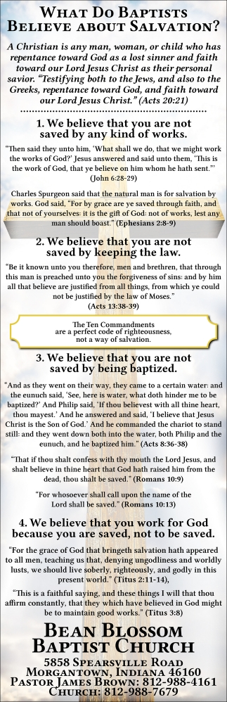 What Do Baptist Believe About Salvation?