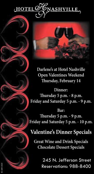 Valentine's Dinner Specials