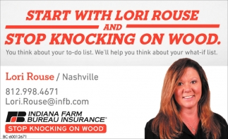 Start With Lori Rouse And Stop Knocking On Wood