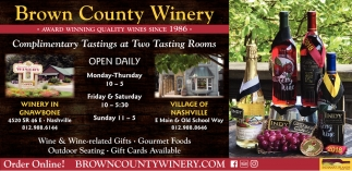 Complimentary Tastings At Two Tastings Rooms