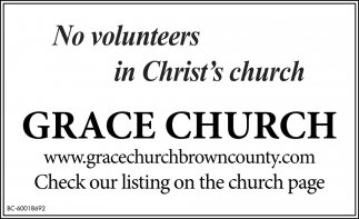 No Volunteers In Christ's Church