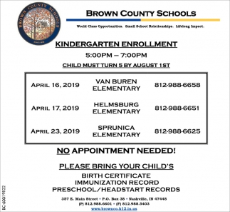Kindergarten Enrollment