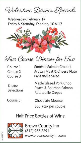 Valentine Dinner Specials