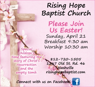 Please Join Us Easter!