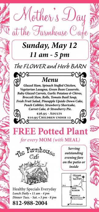 Mother's Day At The Farmhouse Cafe