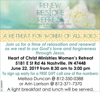 A Retreat For Women Of All Ages