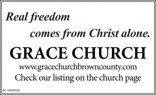 Real Freedom Comes From Christ Alone.