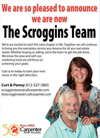 We Are So Pleased To Announce We Are Now The Scroggins Team