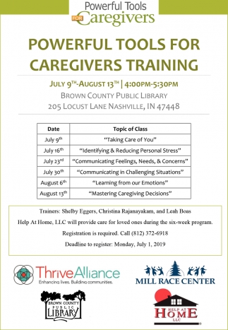 Powerful Tools For Caregivers Training