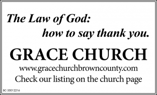 The Law Of God: How To Say Thank You.