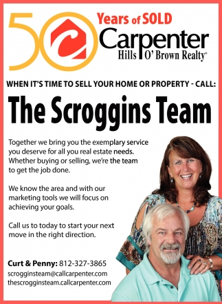 When It's Time To Sell Your Home Or Property - Call: The Scroggins Team