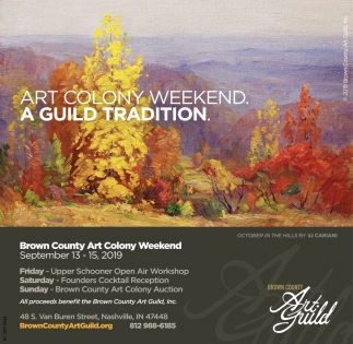 Art Colony Weekend. A Guild Tradition.