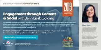 Engagement Through Content & Social With Jenn Lisak Golding