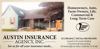 See Us For All Your Insurance Needs...