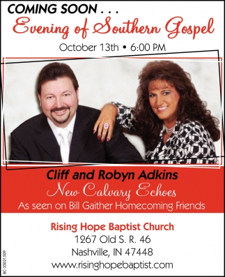 Coming Soo. Evening Of Southern Gospel