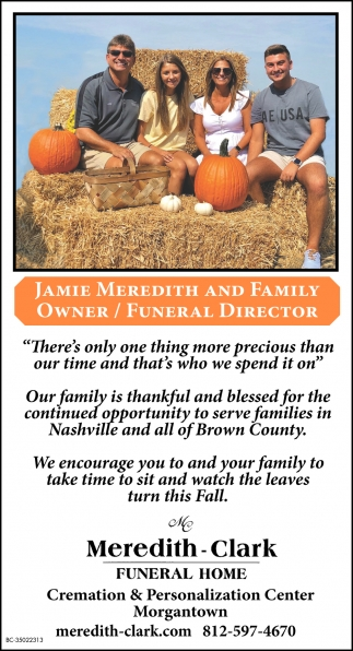 Jamie Meredith And Family Owner / Funeral Director