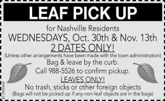 Wednesdays, Oct. 30th & Nov. 13th