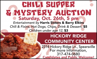 Chili Supper & Mystery Auction