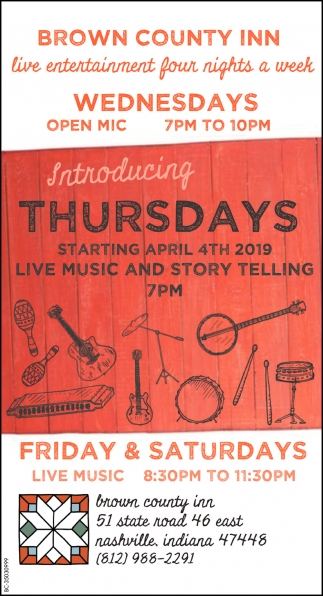 Live Entertainment Four Nights A Week