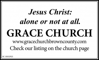 Jesus Christ: Alone Or Not At All.