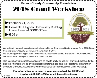 2018 Grant Workshop