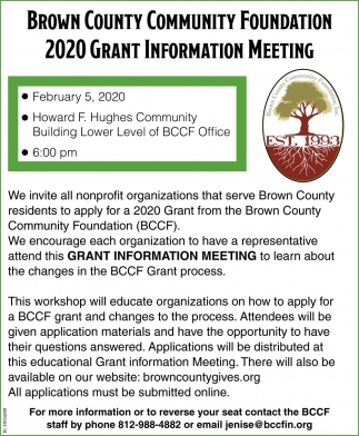 2020 Grant Information Meeting