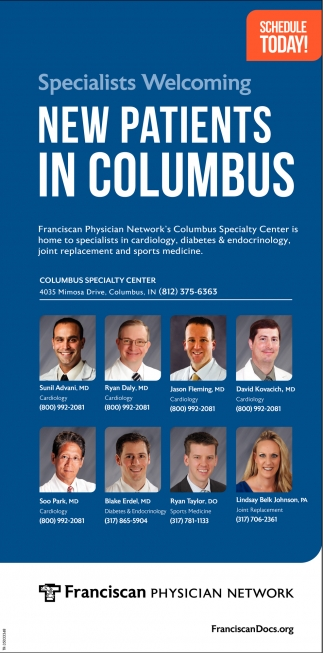 Specilists Welcoming New Patients In Columbus