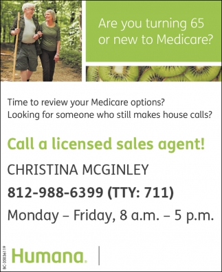 Call A Licensed Sales Agent!