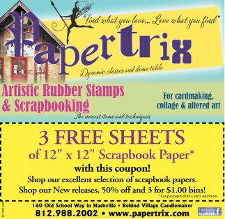Artistic Rubber Stamps And Scrapbooking Paprtrix