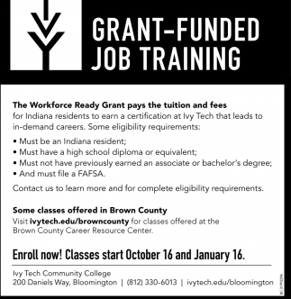 Grant-Funded Job Training