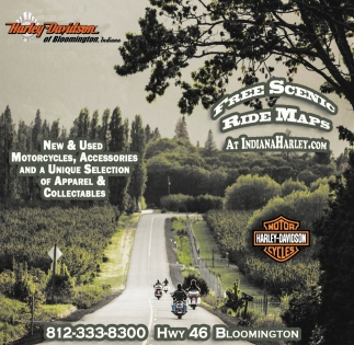 Free Scenic Ride Maps Harley Davidson Of Bloomington