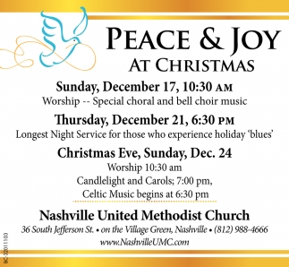 Peace And Joy At Christmas