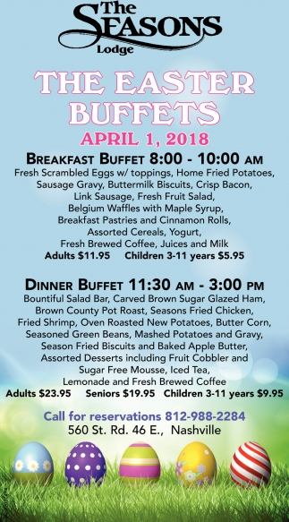 The Easter Buffets