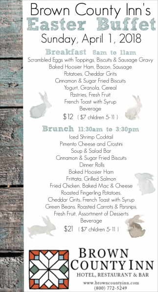 Brown County Inn's Easter Buffet
