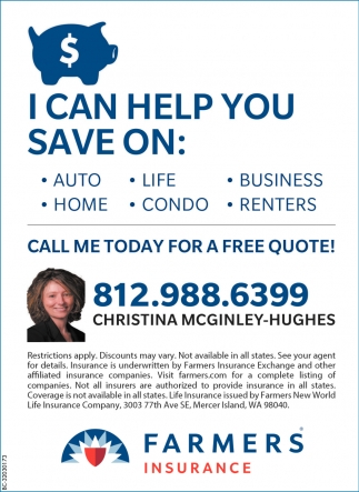 Call Me Today For A Free Quote!