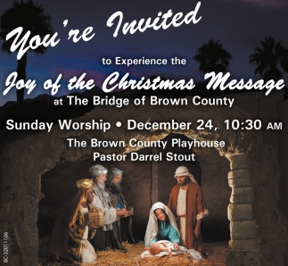 You're Invited To Experience The Joy Of The Christmas Message