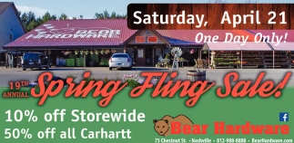 19th Annual Spring Fling Sale!